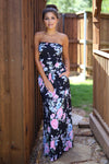 Tea Party Maxi Dress - Black