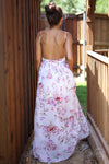 Special Occasions Maxi Dress - Ivory floral long dress trendy womens clothes closet candy boutique