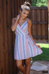 More Than A Dream Dress - Navy & Blush