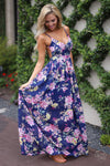 closet candy boutique trendy fashion floral backless summer maxi dress, spring summer outfit, event dress, special occasion dress