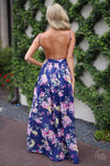 closet candy boutique trendy fashion floral backless summer maxi dress