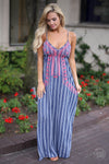Closet Candy Boutique - Not Like the Rest Maxi Dress, trendy embroidered dress for spring and summer outfit, front