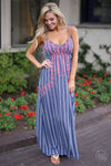 Closet Candy Boutique - Not Like the Rest Maxi Dress, trendy embroidered dress for spring and summer outfit
