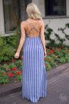 Closet Candy Boutique - Not Like the Rest Maxi Dress, trendy embroidered dress for spring and summer outfit, back