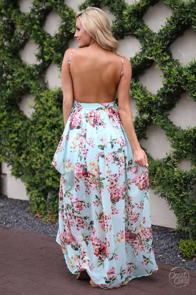 closet candy boutique trendy fashion floral summer maxi dress