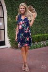 Field of Wildflowers Dress - Navy - Cute & Trendy by Closet Candy Boutique