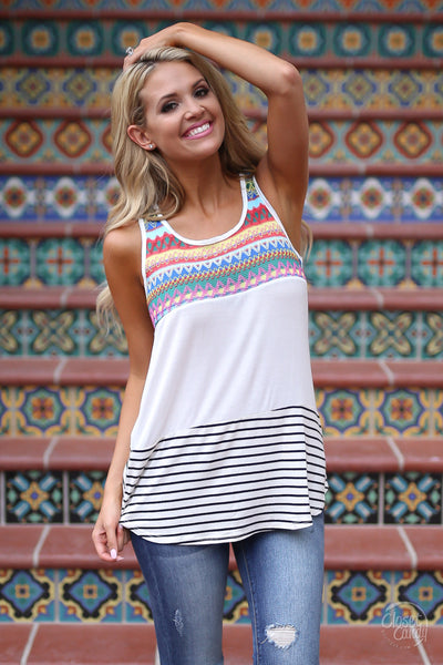 World on Fire Tank Top - Cute Summer Shirt by Closet Candy Boutique