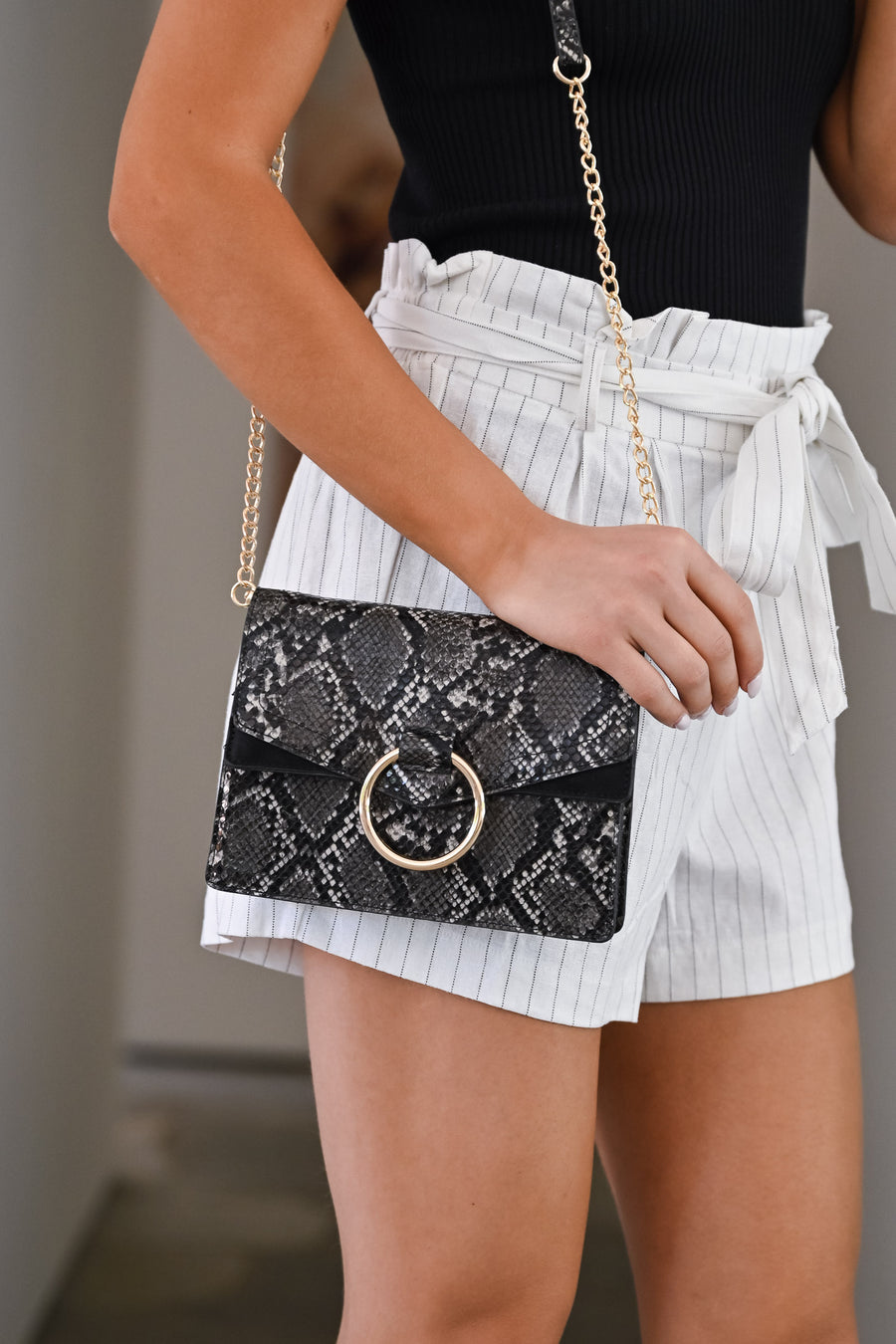 Cold Hearted Snake Clutch - Charcoal