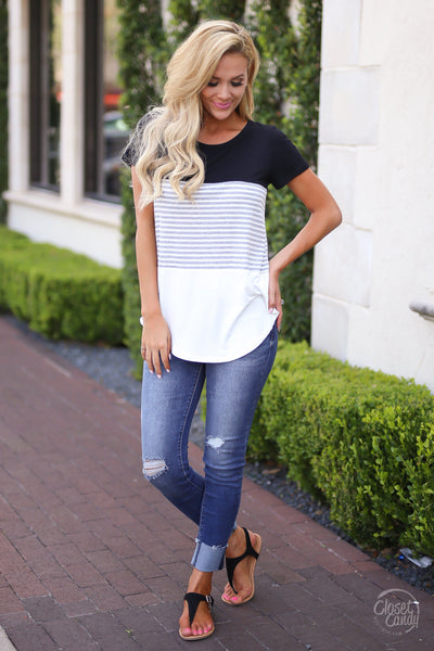 All Day Everyday Top - Black- Trendy and fashionable top by Closet Candy Boutique