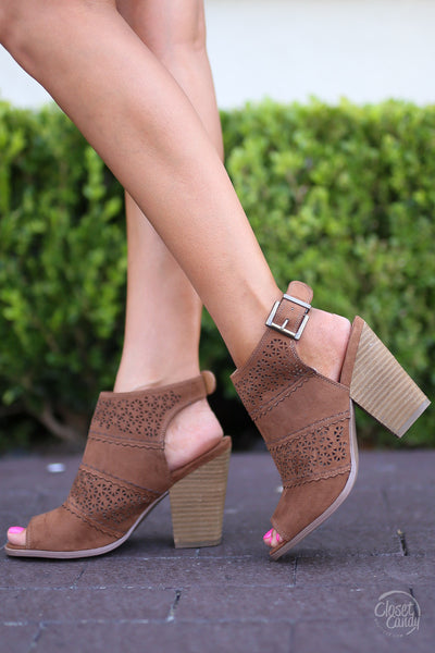 Closet Candy Boutique - spring and summer sandals, open toe laser cut, neutral heeled sandals