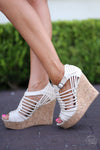 Jolina Wedges - Cream - Cute & Trendy Shoes by Closet Candy Boutique