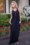 Caught You Staring Maxi Dress, little black dress, vacation, Closet Candy Boutique 1