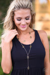 Closet Candy Boutique - Just Gets Better Necklace, gold, diamond shape, jewelry, accessories