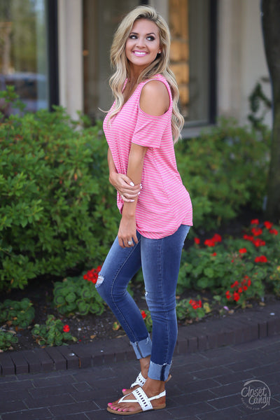 All Knotted Up Top - Coral