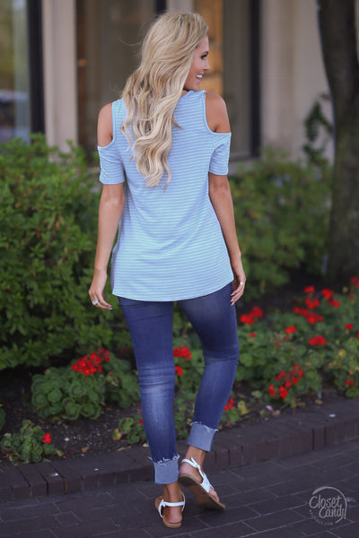 All Knotted Up Top - Light Blue