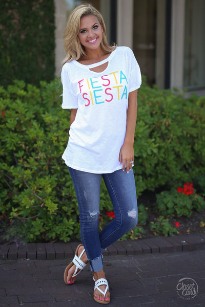 Closet Candy Boutique - Fiesta Siesta Top, cute and trendy women's top, party top, front