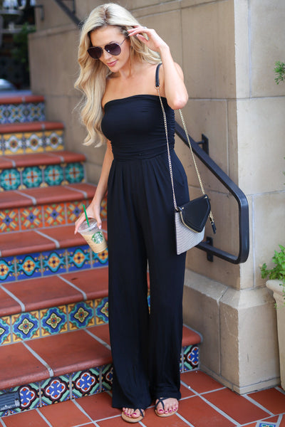 Hot in Houston Jumper - Black women's trendy jumpsuit closet candy boutique 5