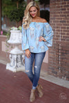 Closet Candy Boutique - off the shoulder dreamcatcher top spring and summer outfit