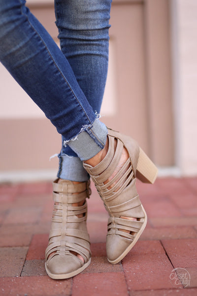 Road Less Traveled Booties - Taupe