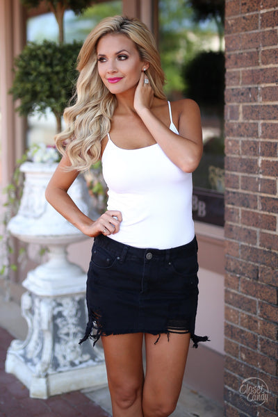 Back For More Denim Skirt - Black