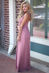 Caught You Staring Maxi Dress - Dusty Rose