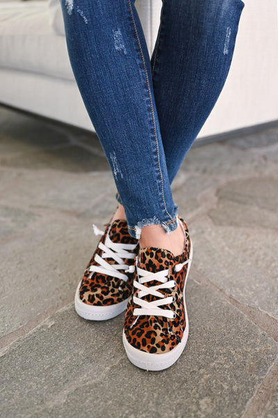 Stacy Sneakers - Leopard womens trendy slip on leopard print sneakers closet candy  front