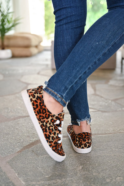Stacy Sneakers - Leopard womens trendy slip on leopard print sneakers closet candy back