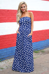 Closet Candy Boutique - star print maxi dress, american 4th of july outfit