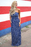 Closet Candy Boutique - star print maxi dress, american 4th of july outfit, front
