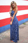 Closet Candy Boutique - star print maxi dress, american 4th of july outfit, side
