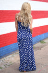 Closet Candy Boutique - star print maxi dress, american 4th of july outfit, back