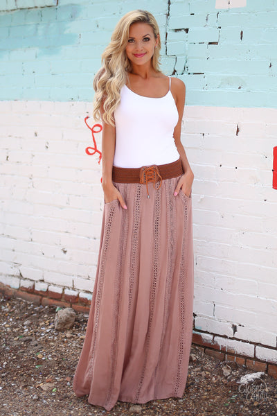 Closet Candy Boutique - boho maxi skirt, bohemian style, spring and fall fashion