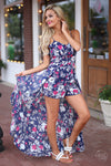 Closet Candy Boutique - trendy pretty floral maxi romper, spring and summer style