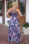Closet Candy Boutique - trendy pretty floral maxi romper, spring and summer style, high-low