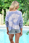 Coronado Beach Tie Dye Top - Lavender womens trendy cropped tie dye long sleeve top closet candy back