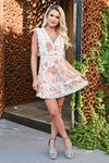 In This Moment Dress - Ivory womens trendy floral mesh lace dress closet candy front 2