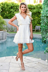 Make You Mine Dress - Ivory womens trendy crochet lace detail short dress closet candy front 2
