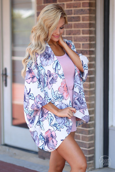 Closet Candy Boutique - cute casual romper, everyday outfit, tank romper, kimono, outfit