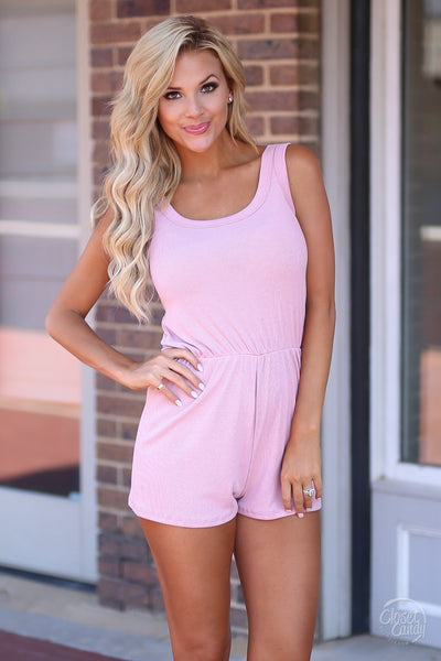 Closet Candy Boutique - cute casual romper, everyday outfit, tank romper, front