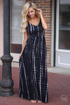 Closet Candy Boutique - cute and trendy tie dye bamboo maxi dress, spring and summer dress, front