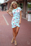 Pretty In Peonies Dress - cute floral dress, mint dress, summer outfit, Closet Candy Boutique
