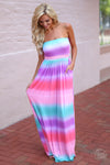 Closet Candy Boutique - cute colorful tie dye maxi dress for spring and summer
