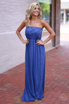 Closet Candy Boutique - trendy cute blue maxi dress for spring and summer