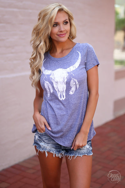 Song of the South Longhorn Tee - Blue