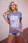 Closet Candy Boutique - Can I get an amen top, beach splatter shirt, faith shirt
