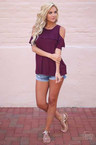 Closet Candy Boutique - cute casual denim cutoff shorts, outfit