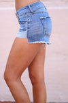 Closet Candy Boutique - cute casual denim cutoff shorts, side