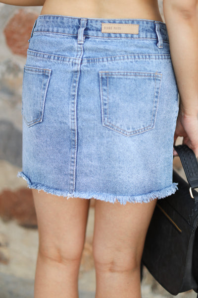 Sweet Summertime Denim Skirt womens jean skirt closet candy boutique