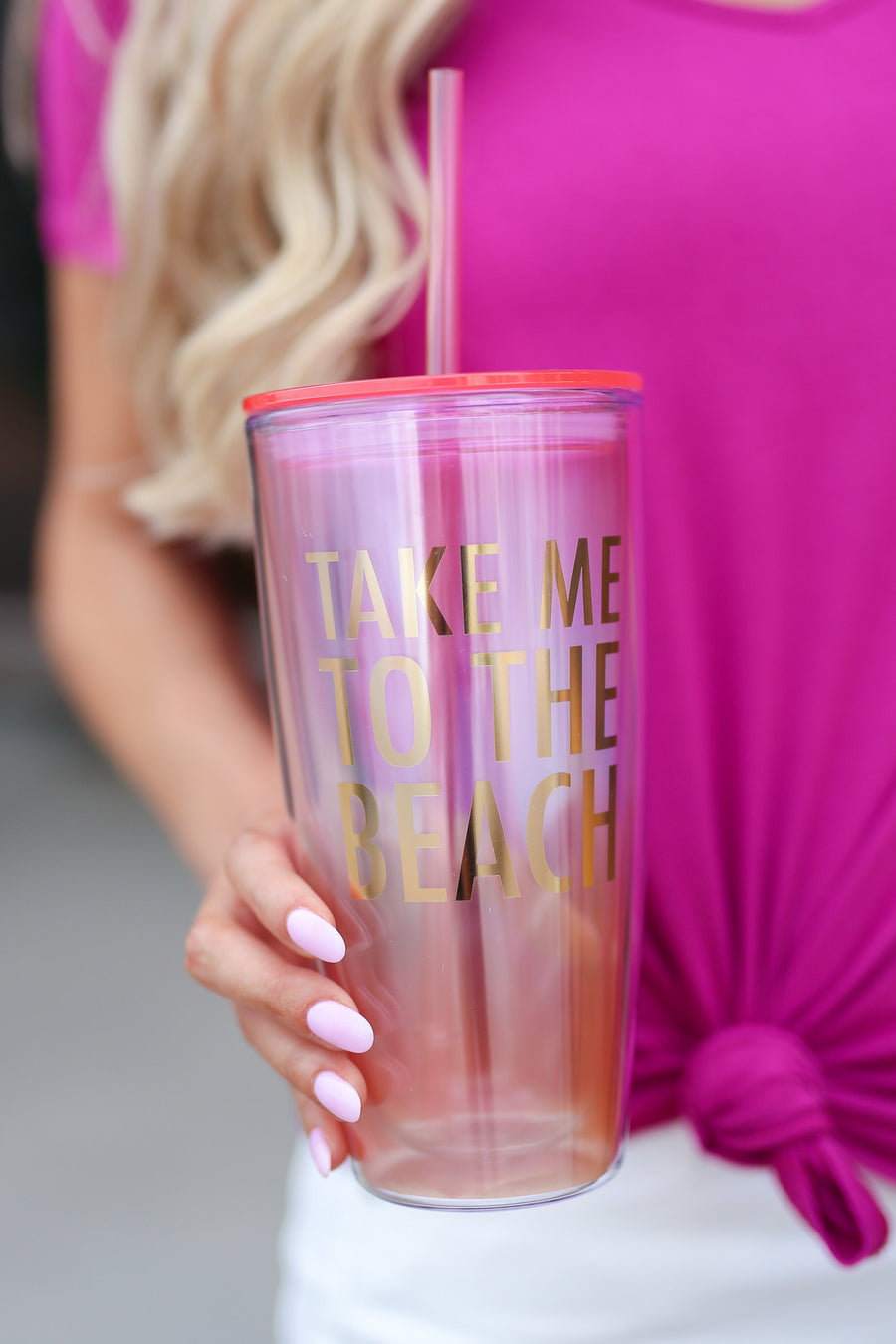 Take Me To The Beach Tumbler 22 ounce cup with straw closet candy boutique