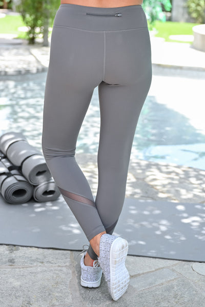 My Best Version Mesh Leggings - Grey womens casual athletic workout leggings closet candy back